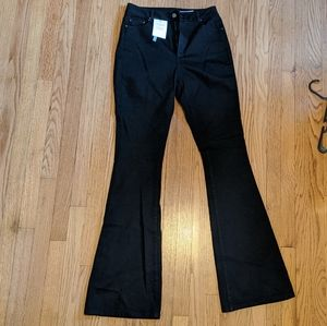Asos Tall Black High-rise Flare Jeans Size 30